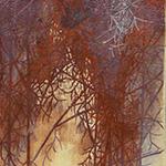 『此処_01』 / 90.9×30.3cm / 和紙、岩絵具、墨
