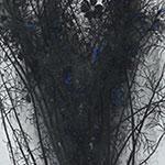 『此処_03』 / 90.9×30.3cm / 和紙、岩絵具、墨