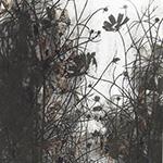 『此処_04』 / 90.9×30.3cm / 和紙、岩絵具、墨