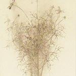 『此処_12』 / 90.9×30.3cm / 和紙、岩絵具、墨