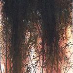 『此処_18』 / 90.9×30.3cm / 和紙、岩絵具、墨