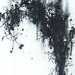『此処_20』 / 90.9×30.3cm / 和紙、岩絵具、墨