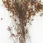 『此処_22』 / 90.9×30.3cm / 和紙、岩絵具、墨、鉄粉