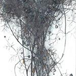 『此処_24』 / 90.9×30.3cm / 和紙、岩絵具、墨